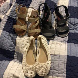 3 pr shoes - sandals and flats sz 13